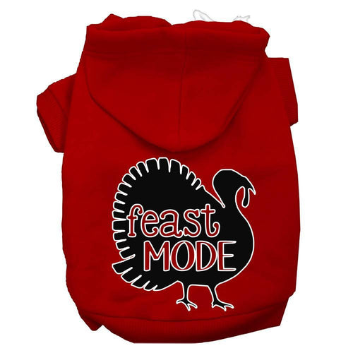 Feast Mode Screen Print Dog Hoodie-Thanksgiving-Bella's PetStor