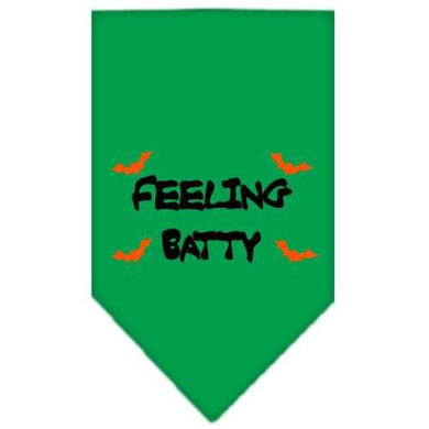 Feeling Batty Screen Print Bandana Emerald Green Small-feeling batty screen print bandana holiday pet products-Bella's PetStor