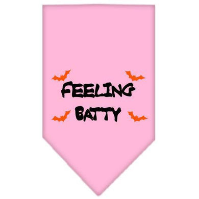 Feeling Batty Screen Print Bandana Light Pink Small-feeling batty screen print bandana holiday pet products-Bella's PetStor