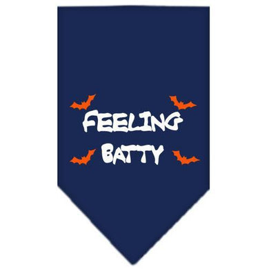 Feeling Batty Screen Print Bandana Navy Blue large-feeling batty screen print bandana holiday pet products-Bella's PetStor