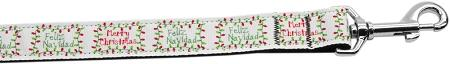 Feliz Navidad Nylon Dog Leash Inch Wide Long-DOGS-Bella's PetStor