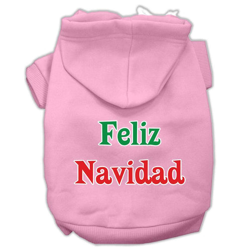 Feliz Navidad Screen Print Pet Hoodies-Dog Clothing-Bella's PetStor