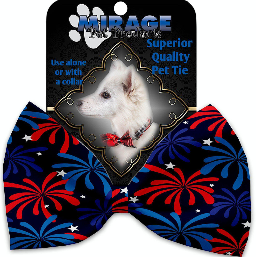 Fireworks Pet Bow Tie Collar Accessory With Velcro-Bow Ties-Bella's PetStor