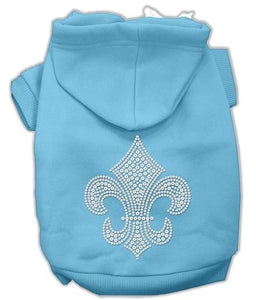 Fleur De Lis Hoodies Baby Blue-Dog Clothing-Bella's PetStor