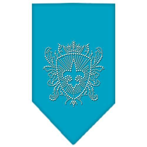Fleur De Lis Shield Rhinestone Bandana-Dog Clothing-Bella's PetStor