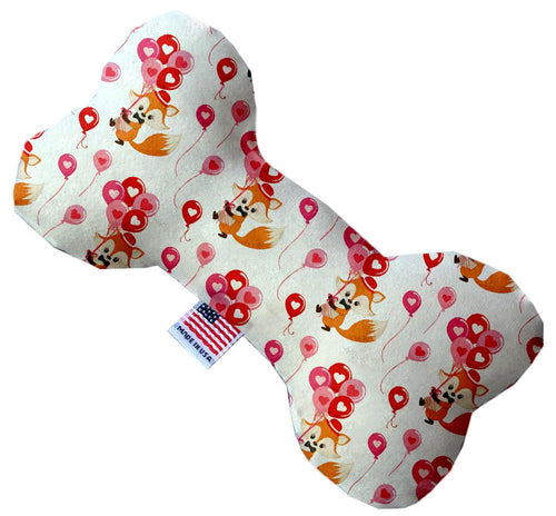Fox Balloons Stuffing Free Inch Bone Dog Toy-Valentines-Bella's PetStor