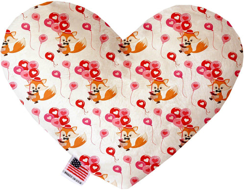 Fox Balloons Stuffing Free Inch Heart Dog Toy-Valentines-Bella's PetStor