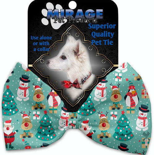 Frosty And Friends Pet Bow Tie Collar Accessory With Velcro-Bow Ties-Bella's PetStor