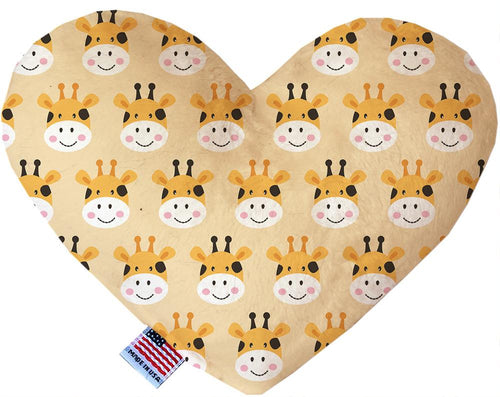 Georgie The Giraffe Inch Canvas Heart Dog Toy-Made in the USA-Bella's PetStor