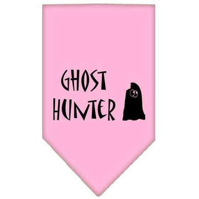 Ghost Hunter Screen Print Bandana Light Pink Large-ghost hunter screen print bandana holiday pet products-Bella's PetStor