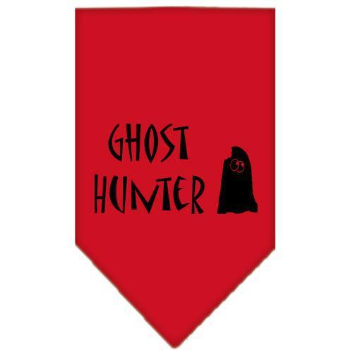 Ghost Hunter Screen Print Bandana Red Small-ghost hunter screen print bandana holiday pet products-Bella's PetStor