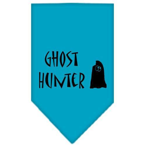 Ghost Hunter Screen Print Bandana Turquoise Large-ghost hunter screen print bandana holiday pet products-Bella's PetStor