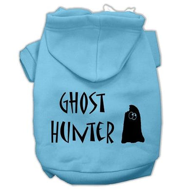 Ghost Hunter Screen Print Pet Hoodies With Lettering-Dog Clothing-Bella's PetStor
