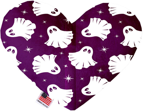 Ghosts On Purple Inch Canvas Heart Dog Toy-Made in the USA-Bella's PetStor