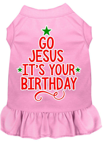 Go Jesus Screen Print Dog Dress-Christmas, Hannakuh-Bella's PetStor