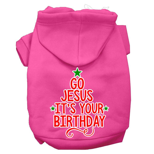 Go Jesus Screen Print Dog Hoodie-Christmas, Hannakuh-Bella's PetStor