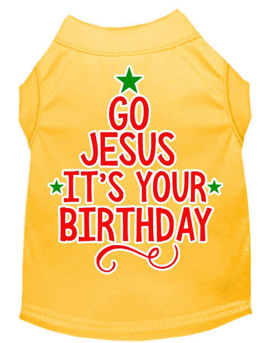 Go Jesus Screen Print Dog Shirt-Christmas, Hannakuh-Bella's PetStor