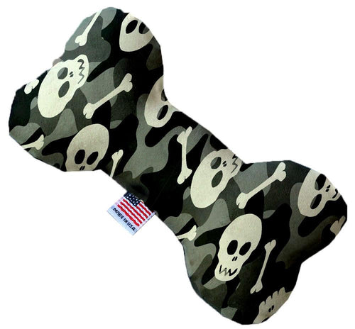 Gray Camo Skulls Inch Canvas Bone Dog Toy-Made in the USA-Bella's PetStor