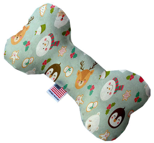 Gray Christmas Party Inch Canvas Bone Dog Toy-Made in the USA-Bella's PetStor