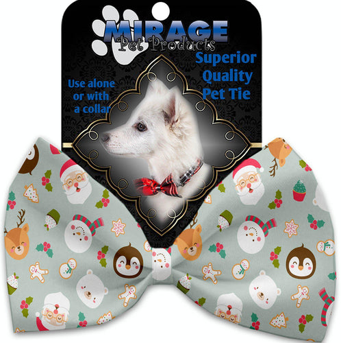 Gray Christmas Party Pet Bow Tie-Christmas, Hannakuh-Bella's PetStor