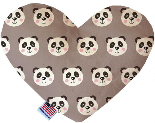 Grey Pandas Inch Canvas Heart Dog Toy-Made in the USA-Bella's PetStor