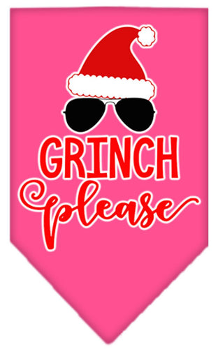 Grinch Please Screen Print Bandana-Christmas, Hannakuh-Bella's PetStor