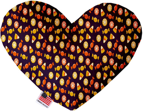 Halloween Candy Confetti Inch Canvas Heart Dog Toy-Made in the USA-Bella's PetStor