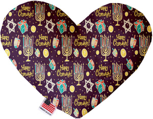 Happy Chanukah 8 Inch Heart Dog Toy-Christmas, Hannakuh-Bella's PetStor