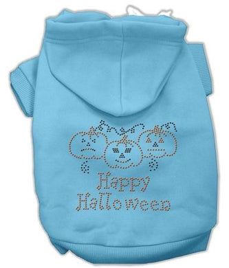 Happy Halloween Rhinestone Hoodies-Dog Clothing-Bella's PetStor