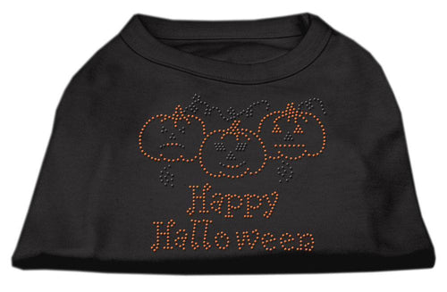 Happy Halloween Rhinestone Shirts-dog shirts-Bella's PetStor