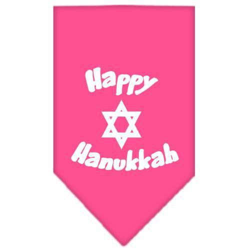 Happy Hanukkah Screen Print Bandana-Dog Clothing-Bella's PetStor