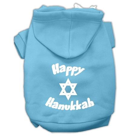 Happy Hanukkah Screen Print Pet Hoodies Size-Dog Clothing-Bella's PetStor