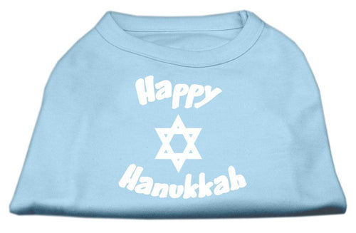 Happy Hanukkah Screen Print Shirt-Dog Clothing-Bella's PetStor