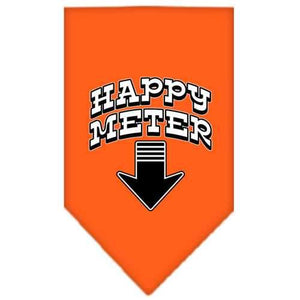 Happy Meter Screen Print Bandana Orange Large-happy meter screen print bandana-Bella's PetStor