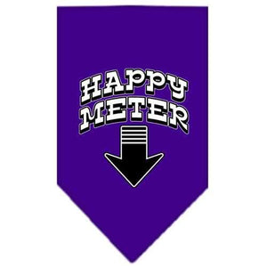 Happy Meter Screen Print Bandana Purple Large-happy meter screen print bandana-Bella's PetStor