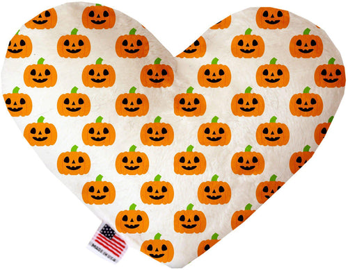 Happy Pumpkins Inch Canvas Heart Dog Toy-Made in the USA-Bella's PetStor