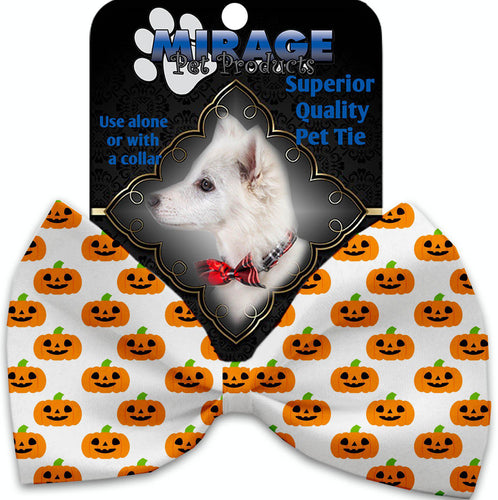 Happy Pumpkins Pet Bow Tie Collar Accessory With Velcro-Holidays-Bella's PetStor