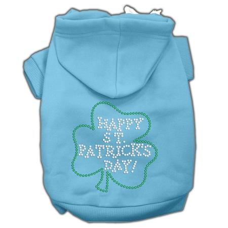 Happy St. Patrick's Day Hoodies Baby Blue-Dog Clothing-Bella's PetStor