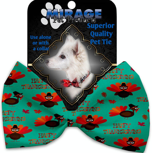 Happy Thanksgiving Pet Bow Tie Collar Accessory With Velcro-Thanksgiving-Bella's PetStor