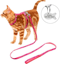 Load image into Gallery viewer, Harness & Leash w/Fish ID Tag, 3 Colors, S-Overseas-Bella's PetStor