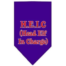 Load image into Gallery viewer, Head Elf In Charge Screen Print Bandana-Christmas, Hannakuh-Bella's PetStor