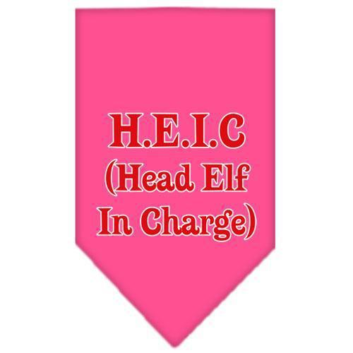 Head Elf In Charge Screen Print Bandana-Dog Clothing-Bella's PetStor