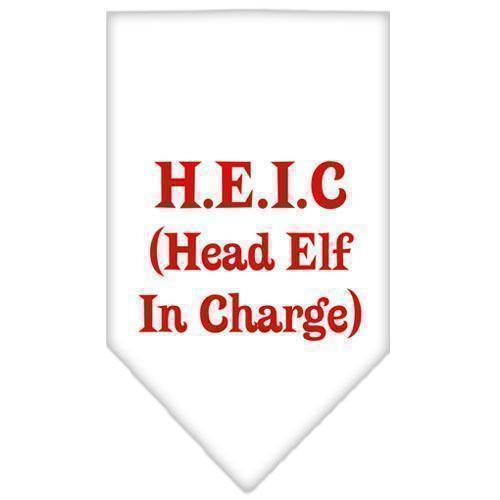 Head Elf In Charge Screen Print Bandana-Christmas, Hannakuh-Bella's PetStor
