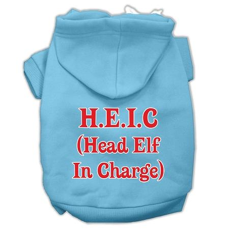 Head Elf In Charge Screen Print Pet Hoodies Size-Dog Clothing-Bella's PetStor