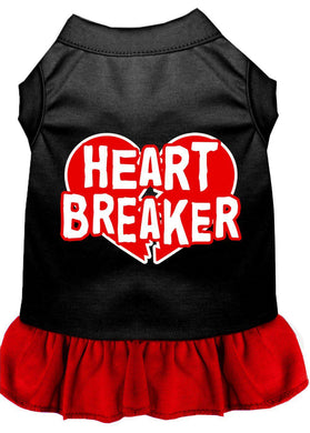 Heart Breaker Dresses Black With Red-Dog Clothing-Bella's PetStor