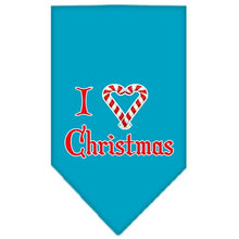 Load image into Gallery viewer, Heart Christmas Screen Print Bandana-Dog Clothing-Bella's PetStor