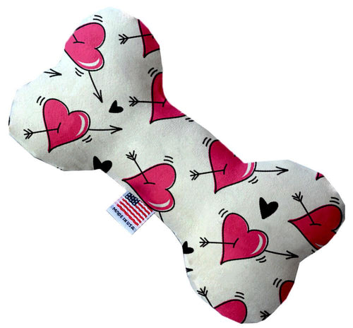 Hearts And Arrows Stuffing Free Inch Bone Dog Toy-Valentines-Bella's PetStor