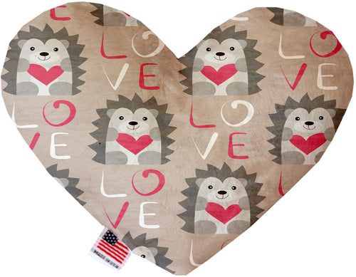 Hedgehog Love Stuffing Free Inch Heart Dog Toy-Valentines-Bella's PetStor