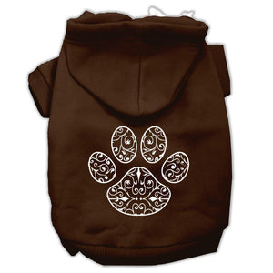 Henna Paw Screen Print Pet Hoodies Size-Dog Clothing-Bella's PetStor