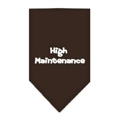 High Maintenance Screen Print Bandana Cocoa Small-high maintenance screen print bandana-Bella's PetStor